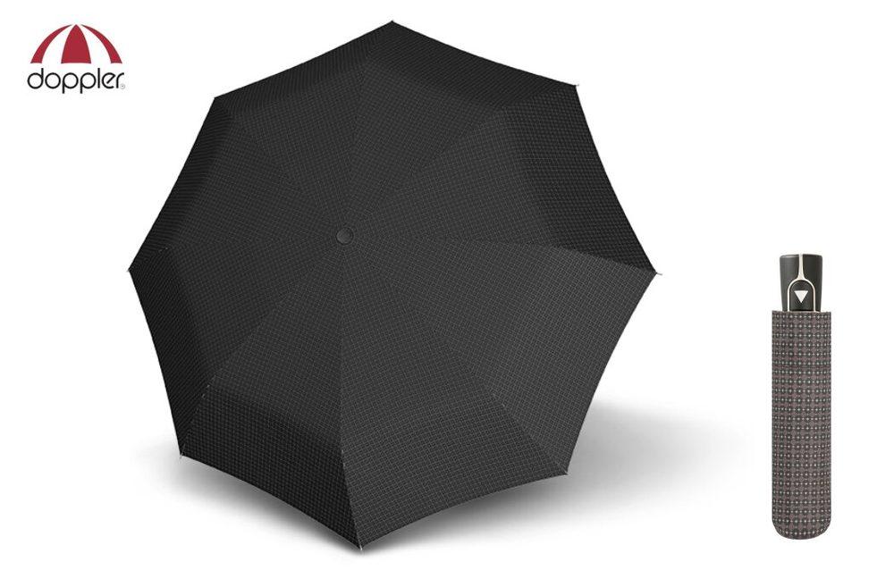 Vzorovaný skládací šedý deštník Doppler Fiber AC
