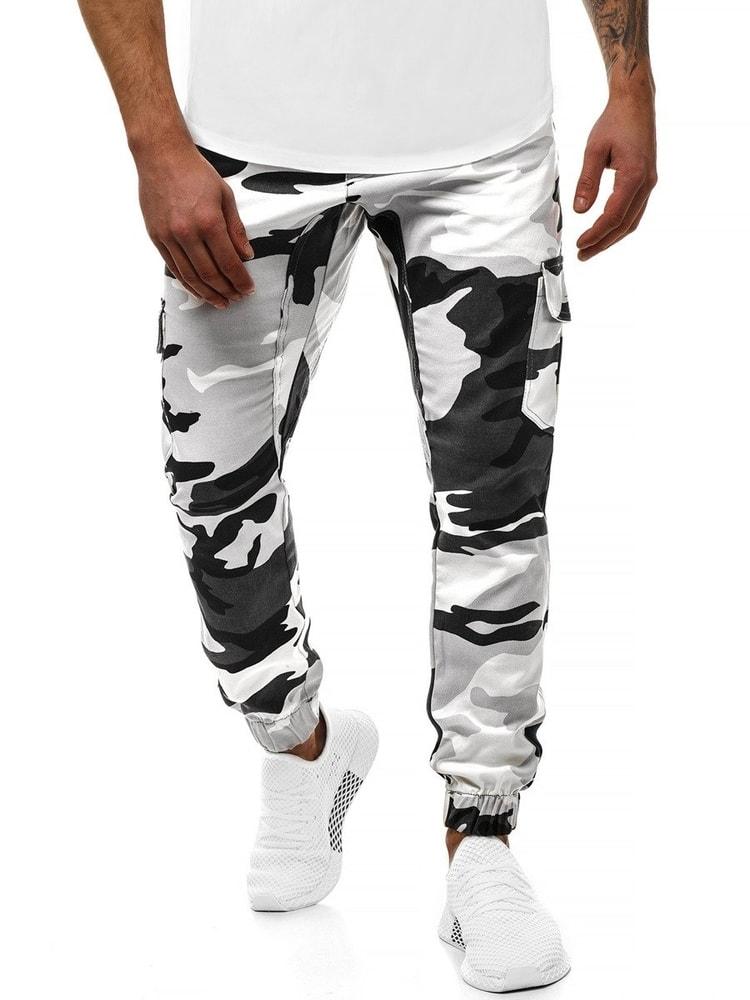 ce17448f9a Athletic Pánské maskáčové jogger kalhoty černobílé A 404