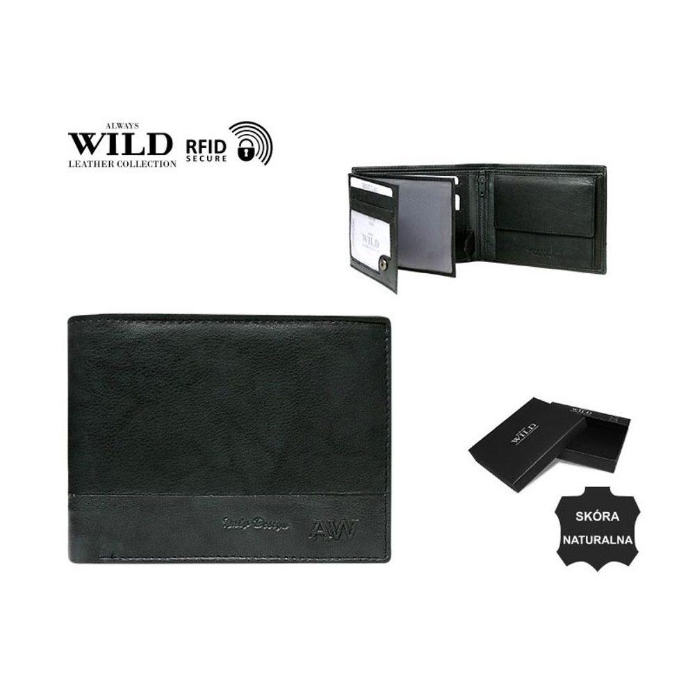 Originální černá peněženka WILD