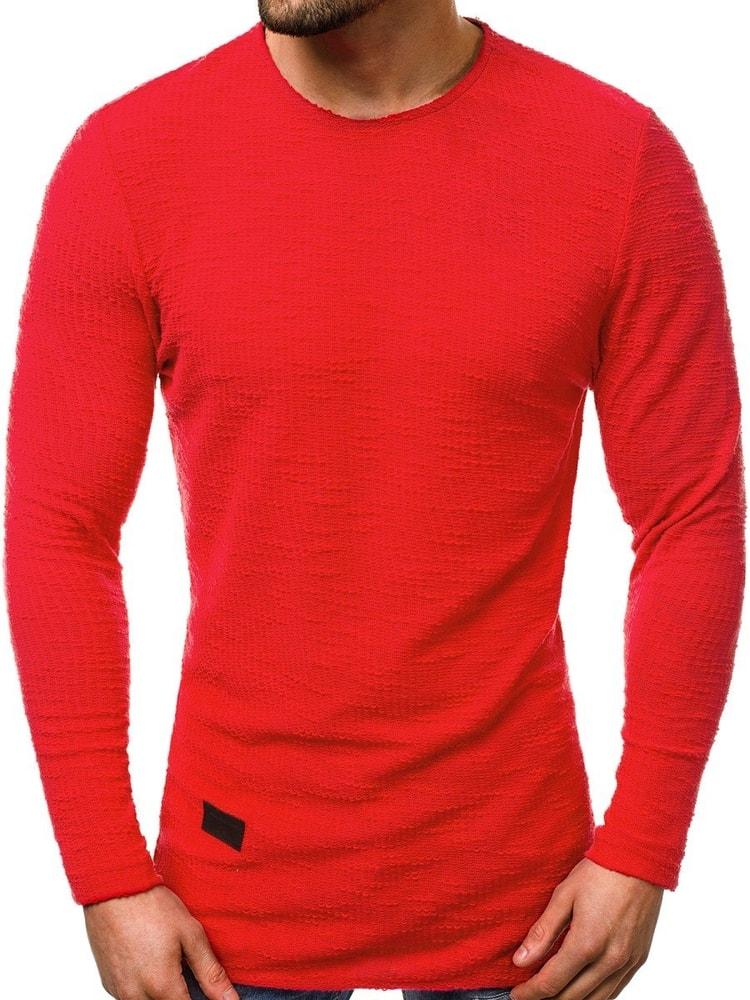 J. Style Jednoduchá červená mikina A/1230 - M