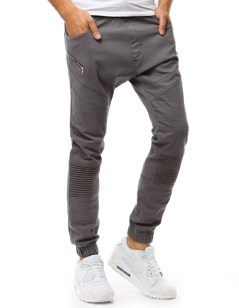 3c3f064e0d Dstreet Trendy šedé jogger kalhoty
