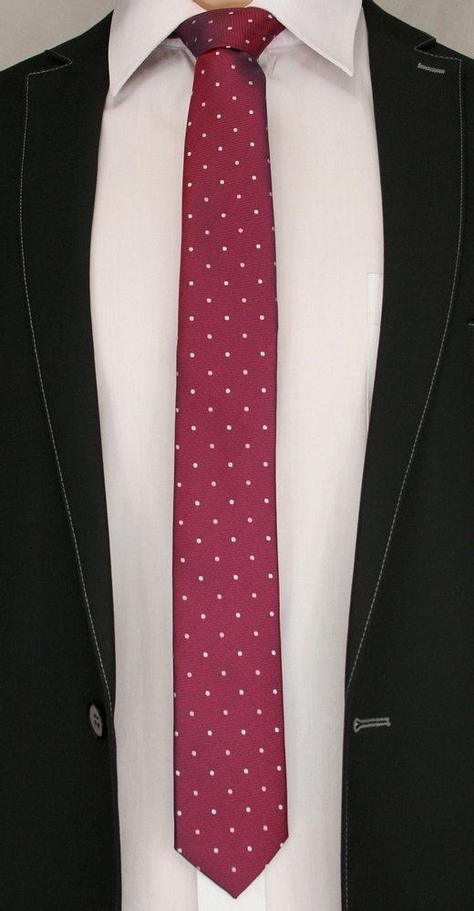 Bordó kravata s puntíky