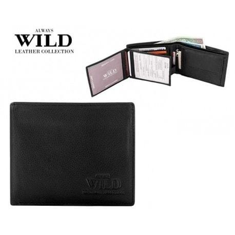 Černá kožená peněženka Always Wild