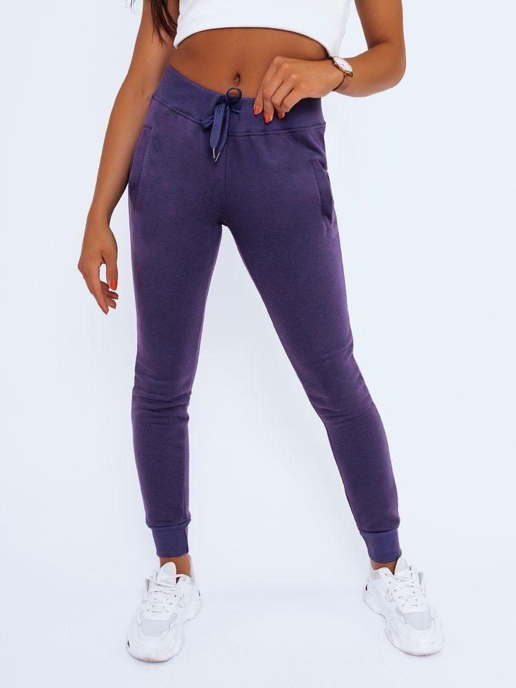 Dstreet Stylové fialové dámské tepláky Fits