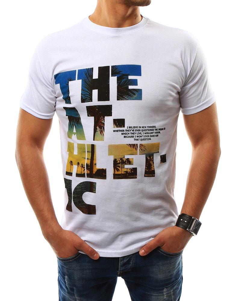 Buďchlap Stylové pánské bílé tričko THE ATHLETIC