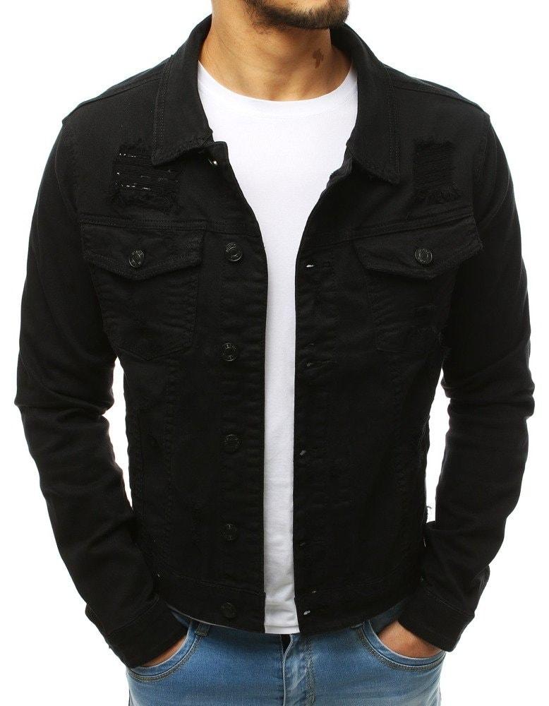 Buďchlap Pánská černá džínová bunda