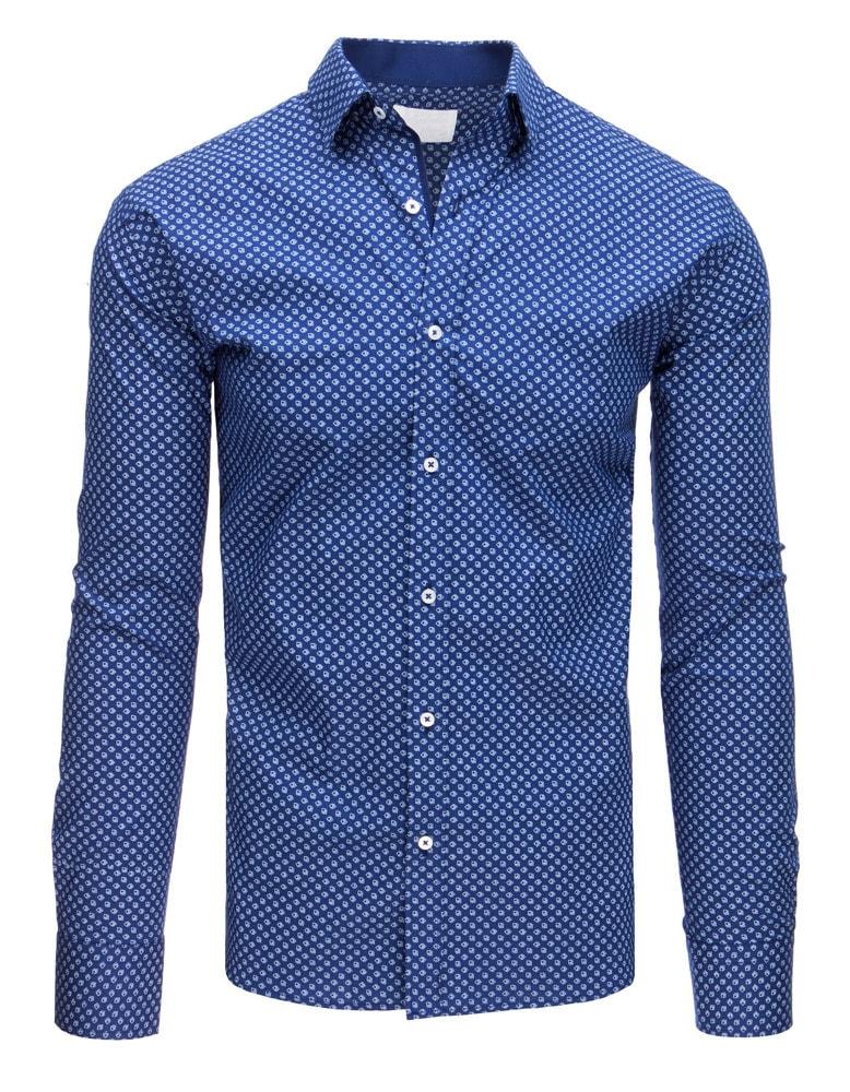 4d72143dd297 Buďchlap Elegantní SLIM FIT košile modrá