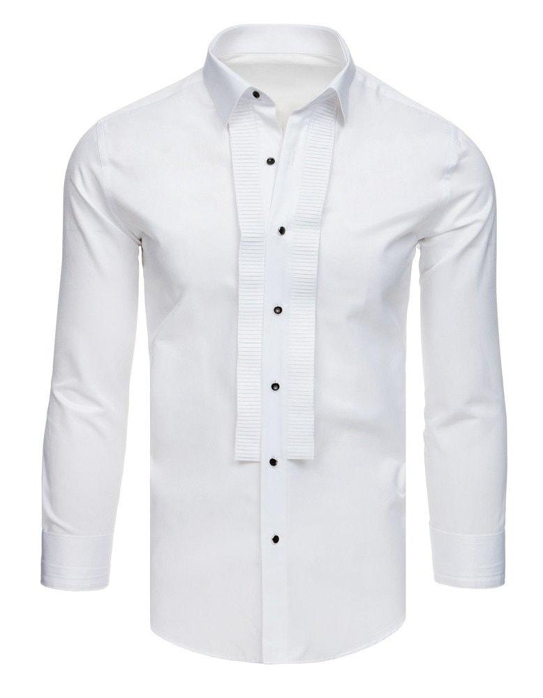 Dstreet Slavnostní smokingová bílá košile