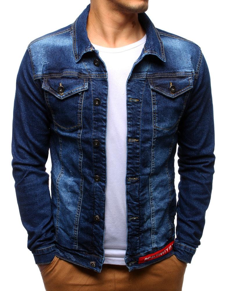 Buďchlap Nebesky modrá džínová bunda - S