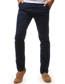 eb2043356 -46% Skladem Tmavě modré pánské chinos kalhoty ...