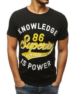 da1789749099 -53% Skladem Pánské černé tričko s potiskem ...