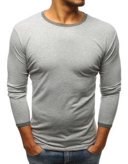 ee08b2a0d782 -49% Skladem Šedé tričko s dlouhým rukávem ...