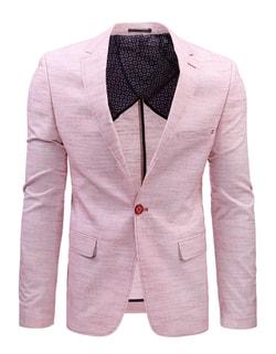 934f25e231b5 -47% Skladem Růžové pánské módní sako ...