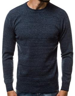 8079a574f Skladem Pánský tmavě modrý svetr s jemným vzorem HR/1838 ...