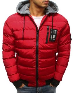 63a9cf154f34 -63% Skladem Originální červená prošívaná bunda ...