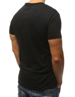 0008f4517dcf ... Trendy černé tričko s módním potiskem