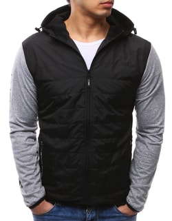 96663c95fc -55% Skladem Černá pánská bunda s kapucí ...