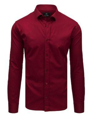 bordová pánská košile