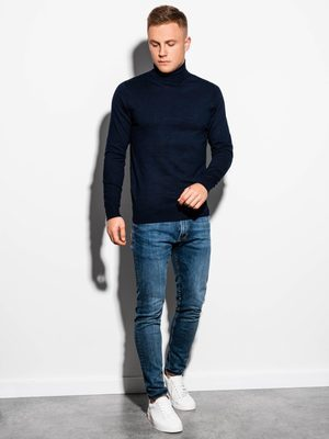 tmavomodrý pánský rolák, modré pánské džíny