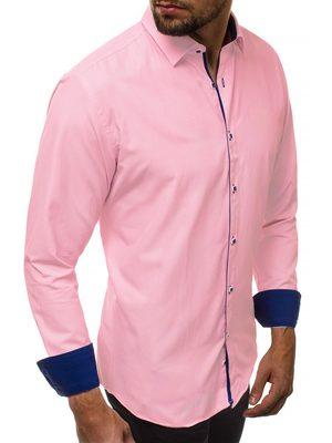 moderní růžová pánská košile