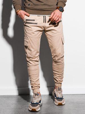 béžové pánské cargo kalhoty