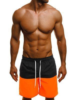 pánské plavky černo oranžové