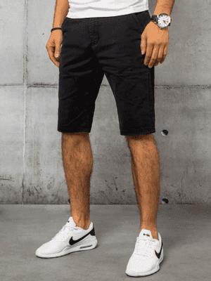 černé pánské džínové kraťasy