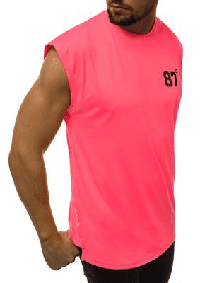 výrazné pánské tílko v neonové růžové barvě