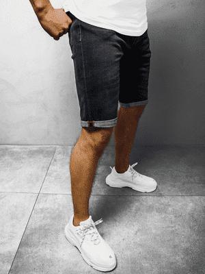 pánské džínové kraťasy tmavomodré
