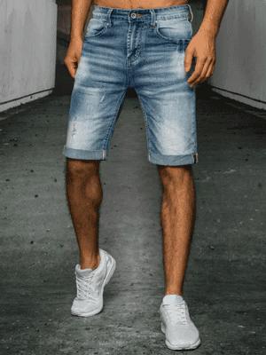modré džínové pánské kraťasy