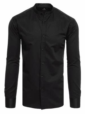 černá pánská košile s dlouhým rukávem