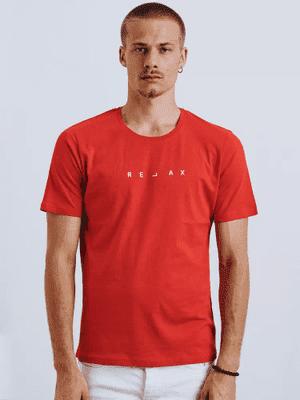 pánské tričko v červené barvě s nápisem Relax