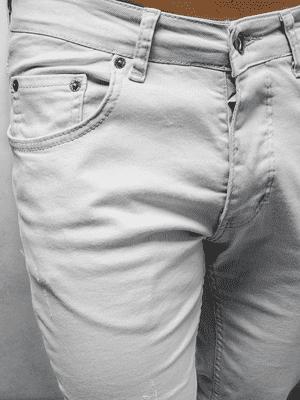 slim fit pánské šedé džíny