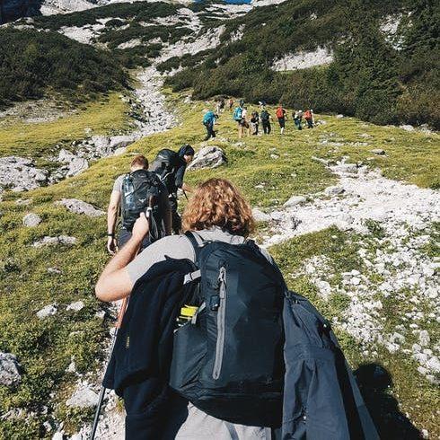 turistika v horách, skupinový výstup