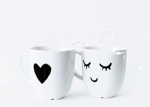 valentýnský dárek porcelánový hrnek