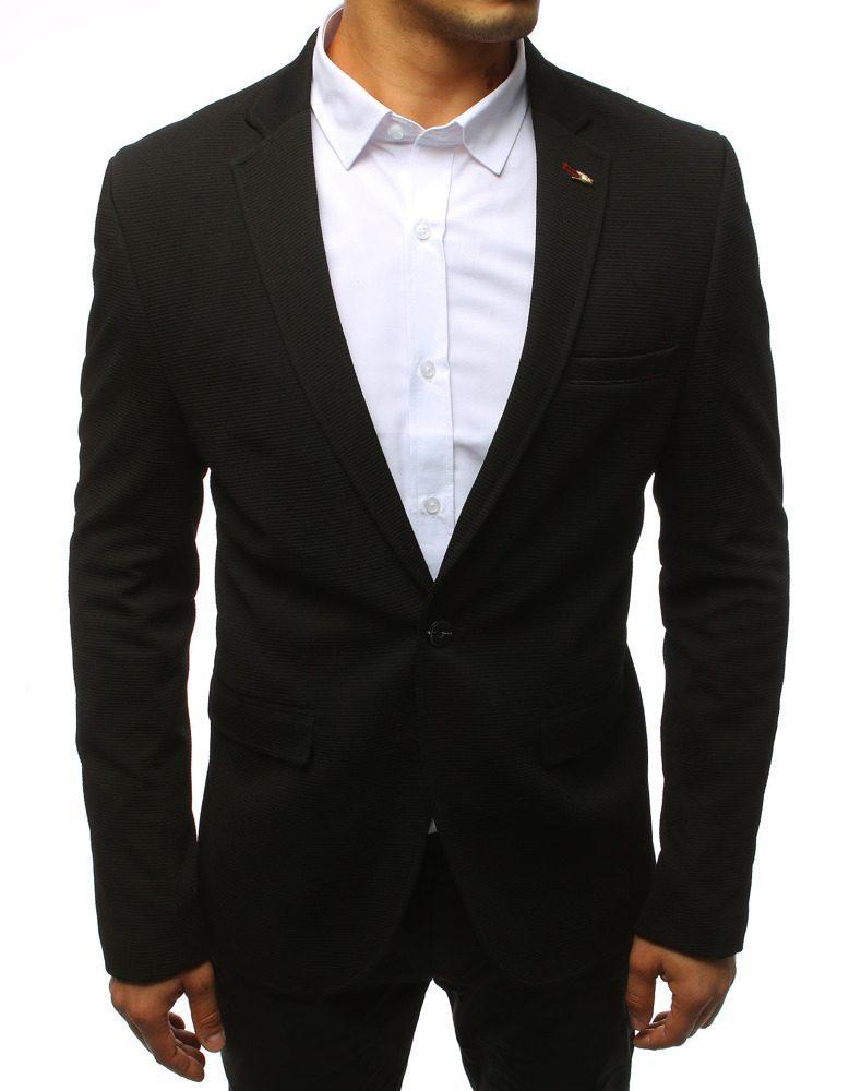 černý pánský oblek, bílá košile