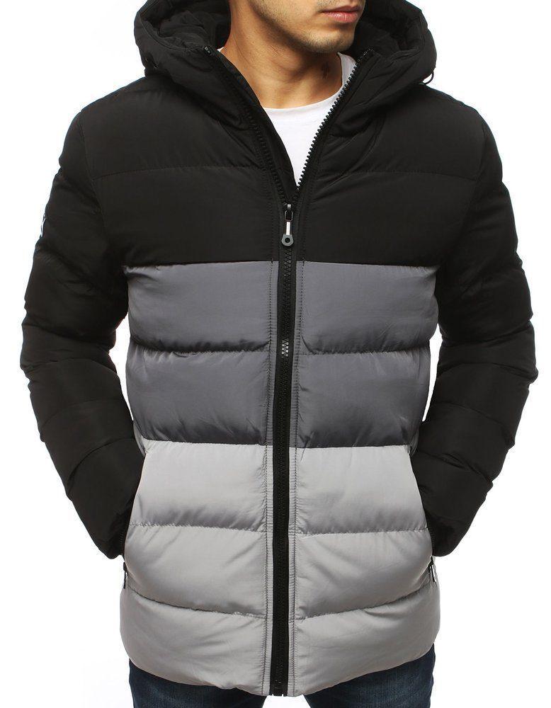 zimní bunda panská černá