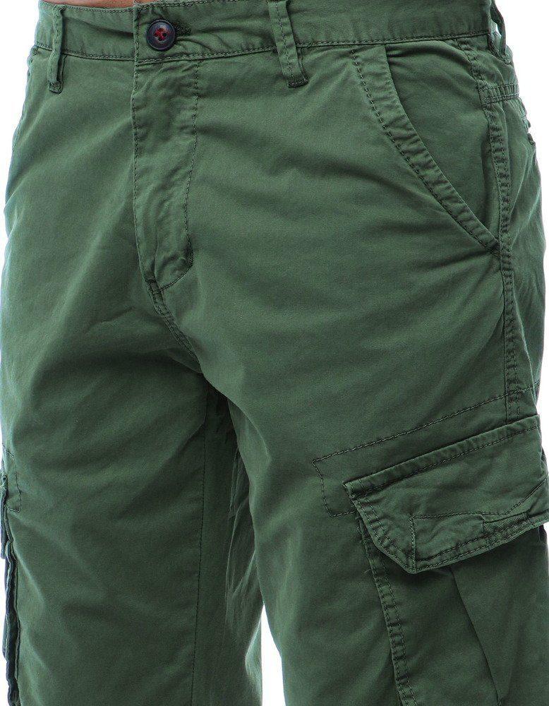 olivové pánské cargo kalhoty