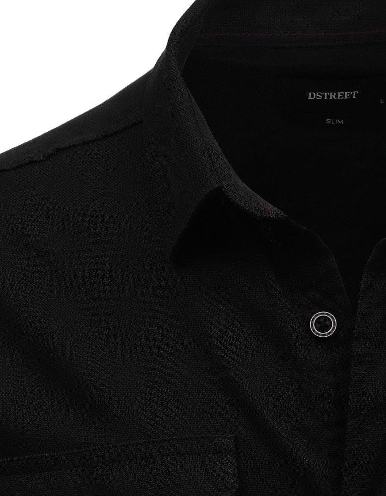 6cba78cb5e6 SLIM FIT moderní černá košile - Budchlap.cz
