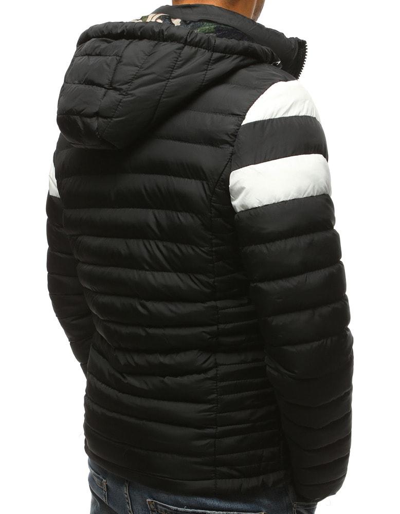 8ed51762b Černá moderní bunda na zimu - Budchlap.cz