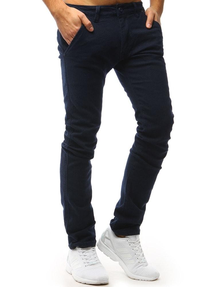 7409b8dada0d Pánské chinos kalhoty tmavě modré - Budchlap.cz