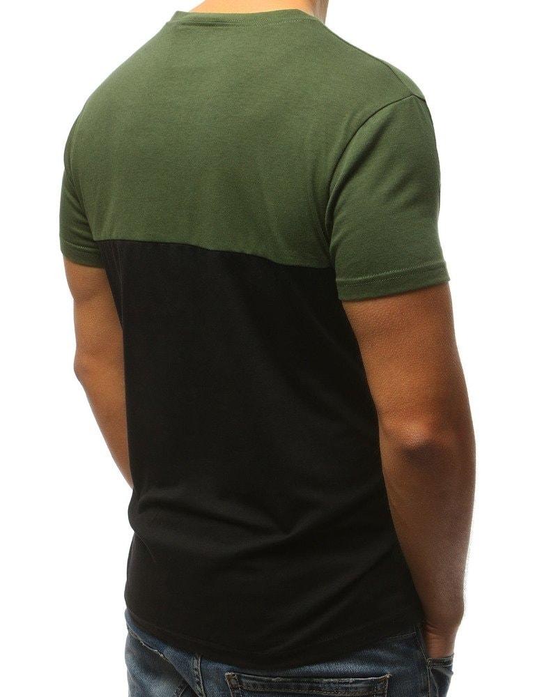 dedee31f4 Zelené pánské tričko s krátkým rukávem - Budchlap.cz