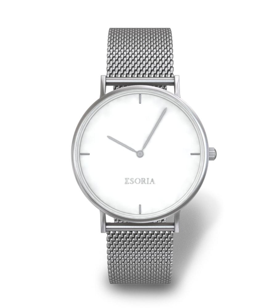 Stříbrné dámské hodinky Esoria Akyla Silver