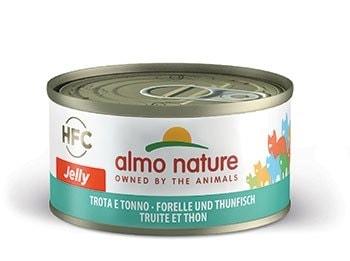 24x Almo Nature HFC - Pstruh a tuňák Jelly 70g výhodné balení