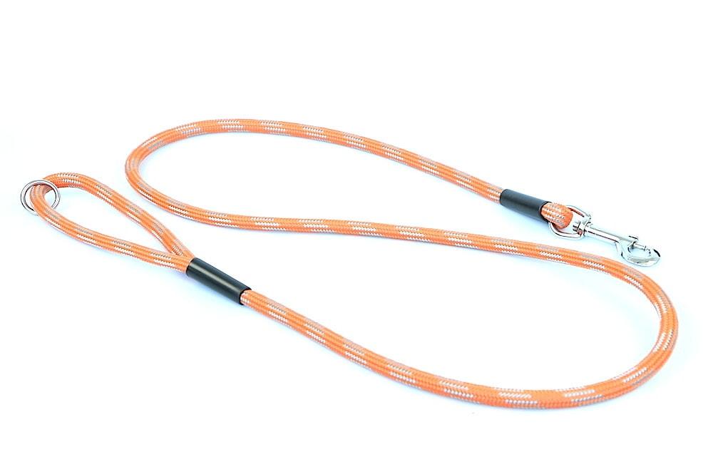 """Aminela vodítko lanové - série G """"Giraffe"""", délka 150cm, síla 10mm, oranžová/šedá"""