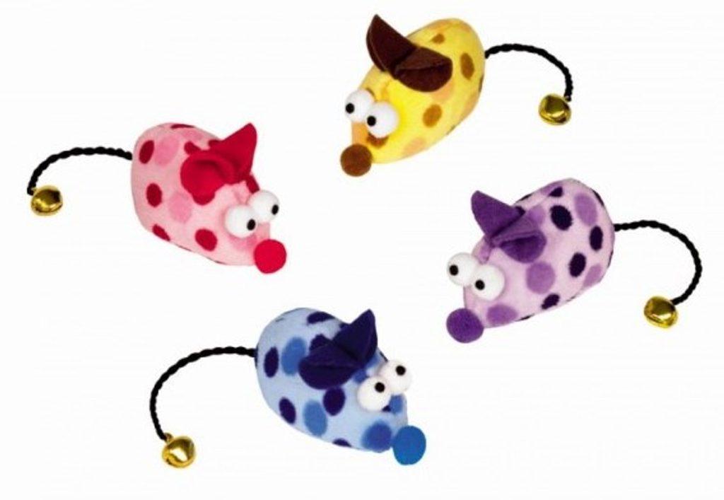 Nobby hračka plyšová myš s rolničkou 6,5cm 2ks