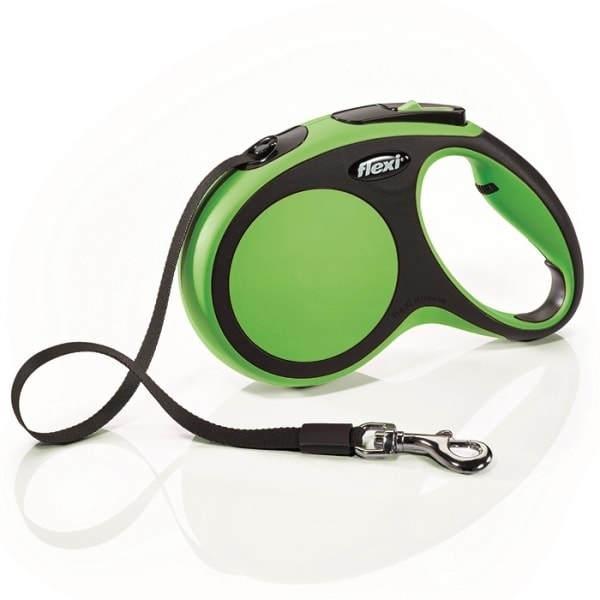 Flexi New Comfort M vodítko pásek 5m/25kg zelená