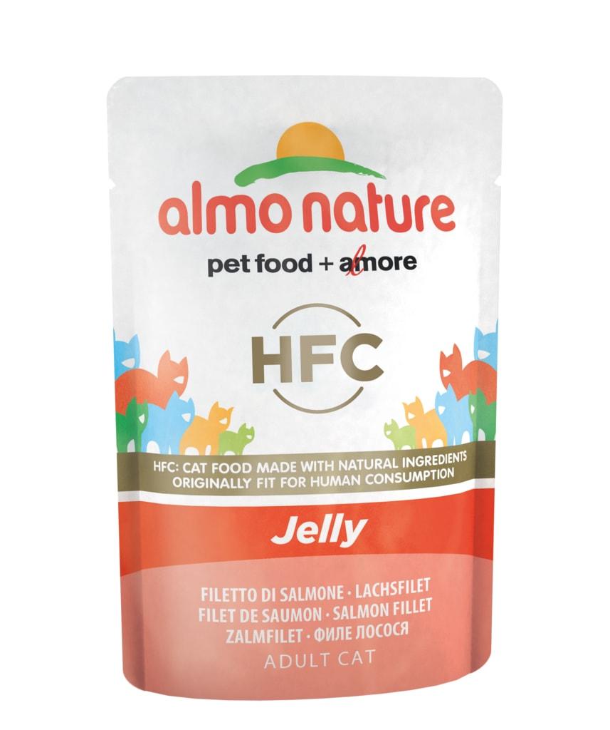 24x Almo Nature HFC Jelly - Losos v želé 55g výhodné balení výhodné balení