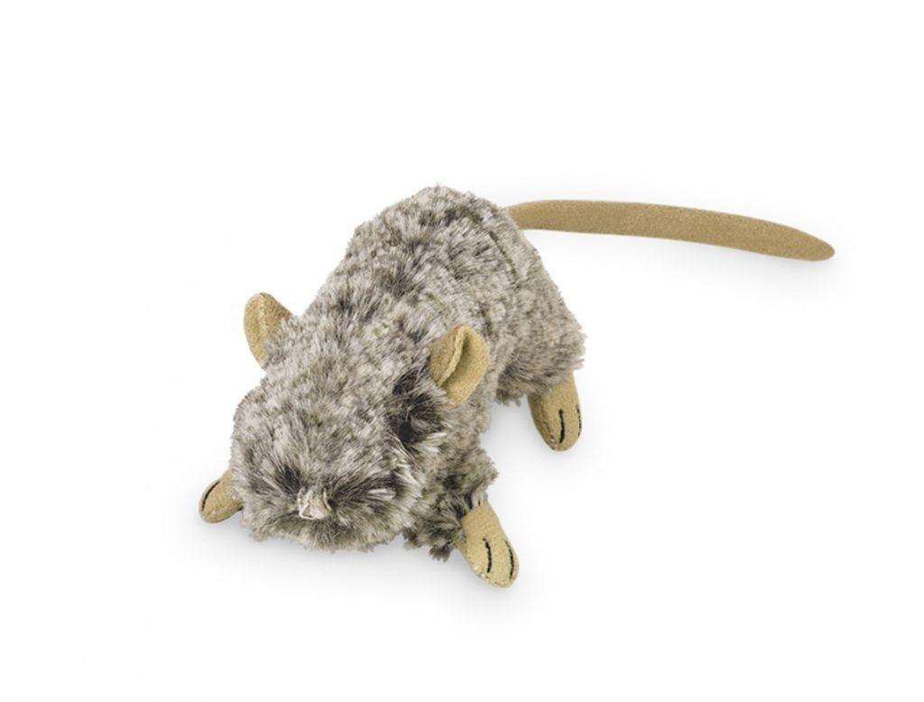 Nobby plyšová myš šustivá 10cm šedá