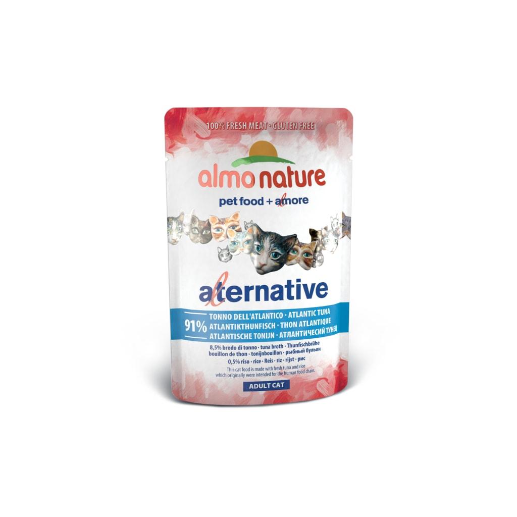 24x Almo Nature Alternative WET CAT - Atlantský tuňák 55g výhodné balení